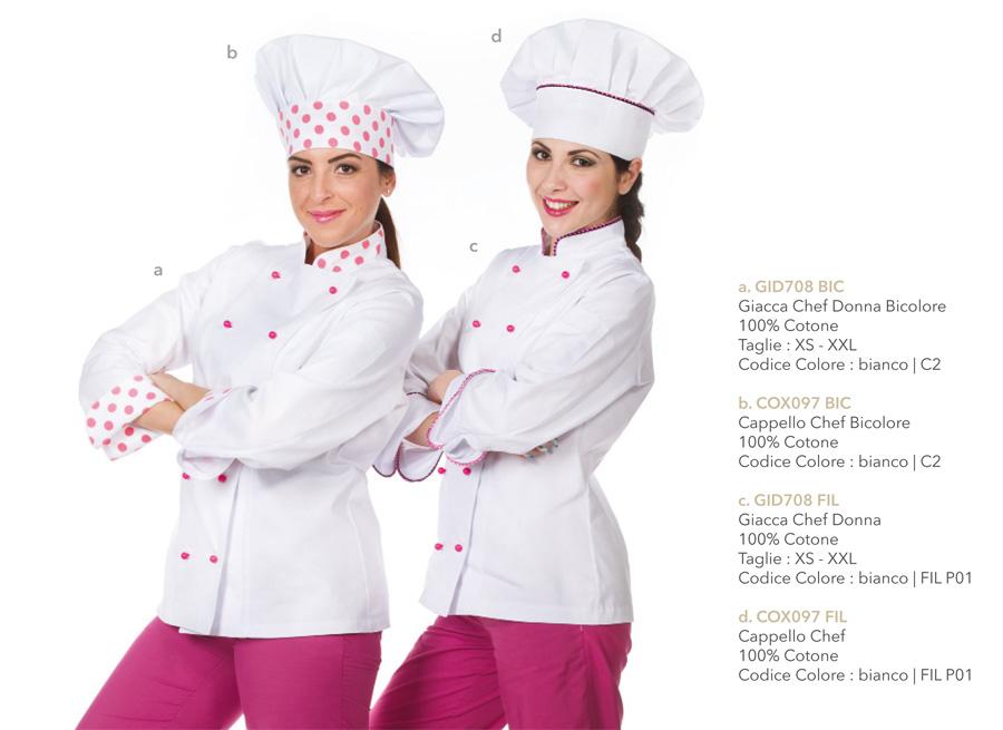 Divisa chef, giacca da lavoro per ristoranti, hotel, pasticcerie, cake design e caffetterie