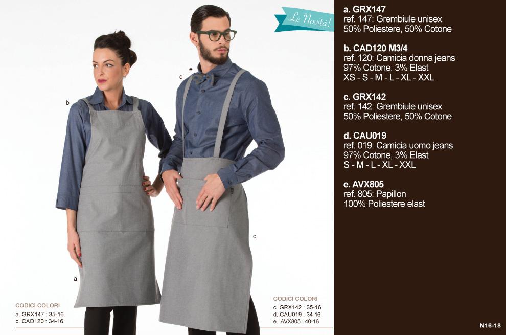 Divise da lavoro, abbigliamento cameriere per il settore Ho.Re.Ca.