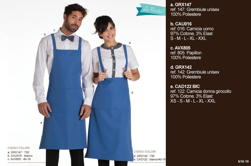 Divise da Lavoro per caffetterie, hotel, pasticcerie, ristoranti, cioccolaterie