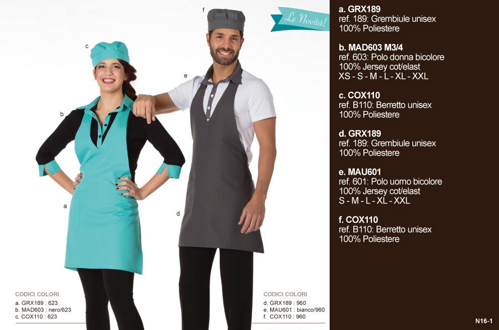 Divise da Lavoro, abbigliamento professionale per bar, cioccolaterie, pasticceria, panifici, hotel, ristoranti