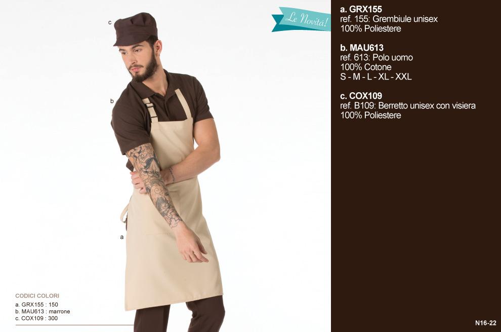 Divise professionali Mevi per la ristorazione e settore Ho. Re. Ca.