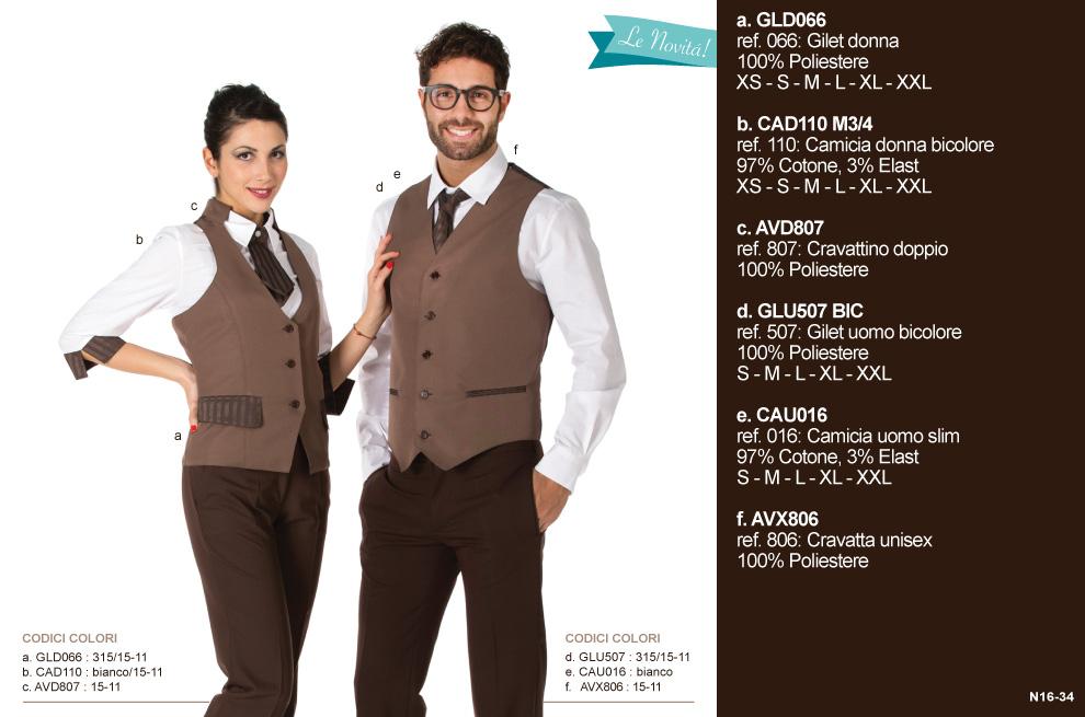 Produzione abbigliamento da lavoro per pasticceria, gelateria, hotel, caffetteria, cioccolateria e lounge bar