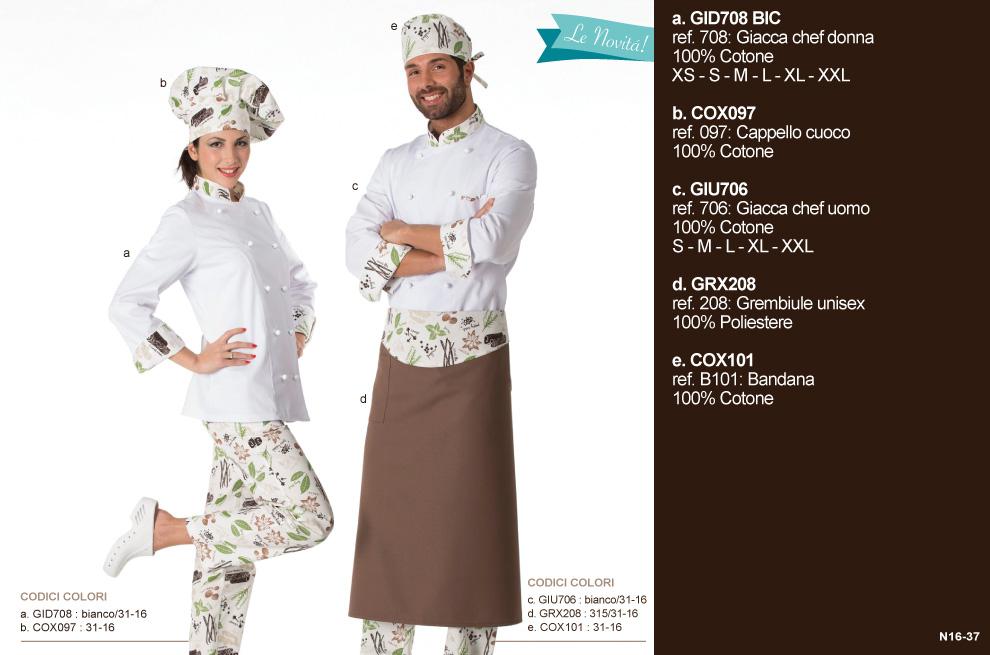 Giacca cuoca per cuoche, chef, hotel, scuole alberghiere, macellerie, pizzerie