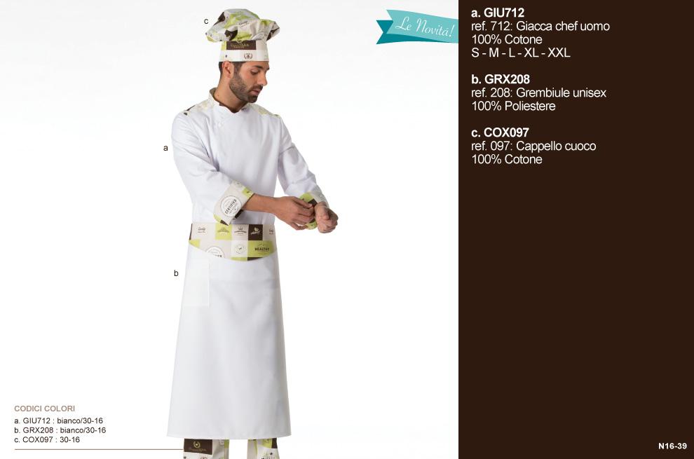 Divisa da chef per cuoco, chef, hotel, ristorante, pizzeria, osteria, enoteca, gastronomia