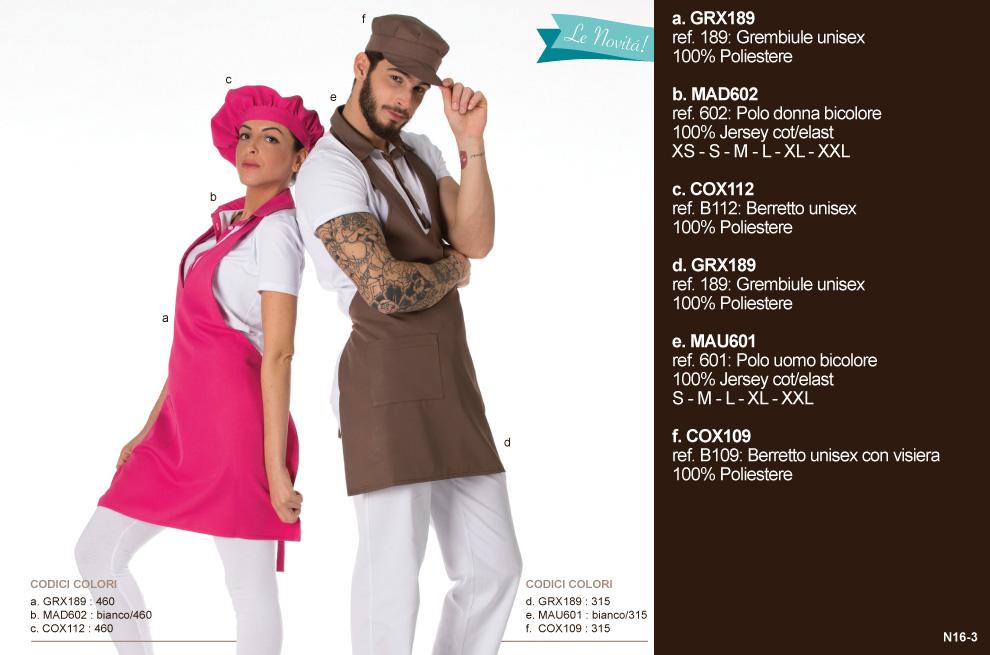 Abbigliamento professionale, produzione abiti da lavoro per Gelaterie, Bar, Pasticcerie