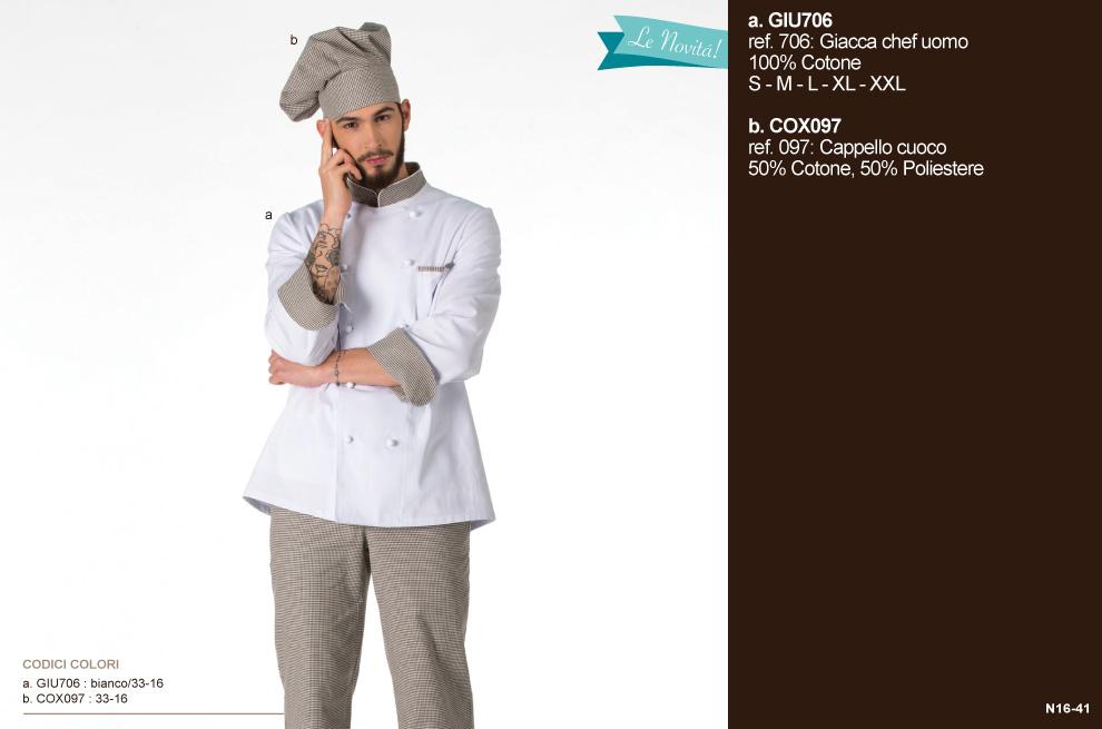 Giacca da cuoco, per cucine, cioccolaterie, osterie, pizzaiolo, aiuto cuoco e settore Ho. Re. Ca.