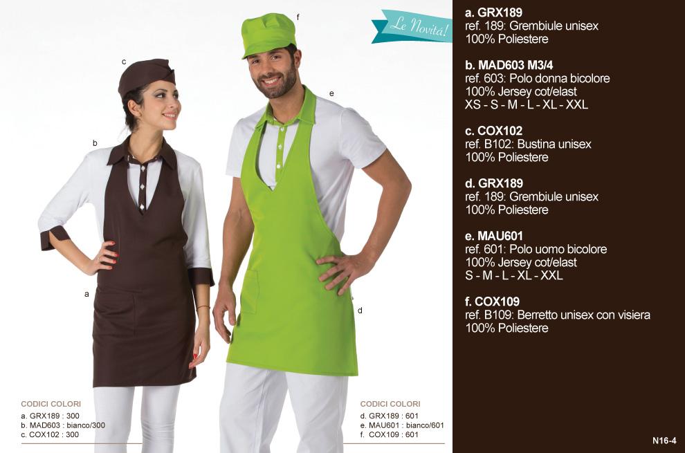 Abbigliamento ristorazione, divise professionali per Gelaterie, Hotel, Pasticcerie, Alberghi e ristoranti