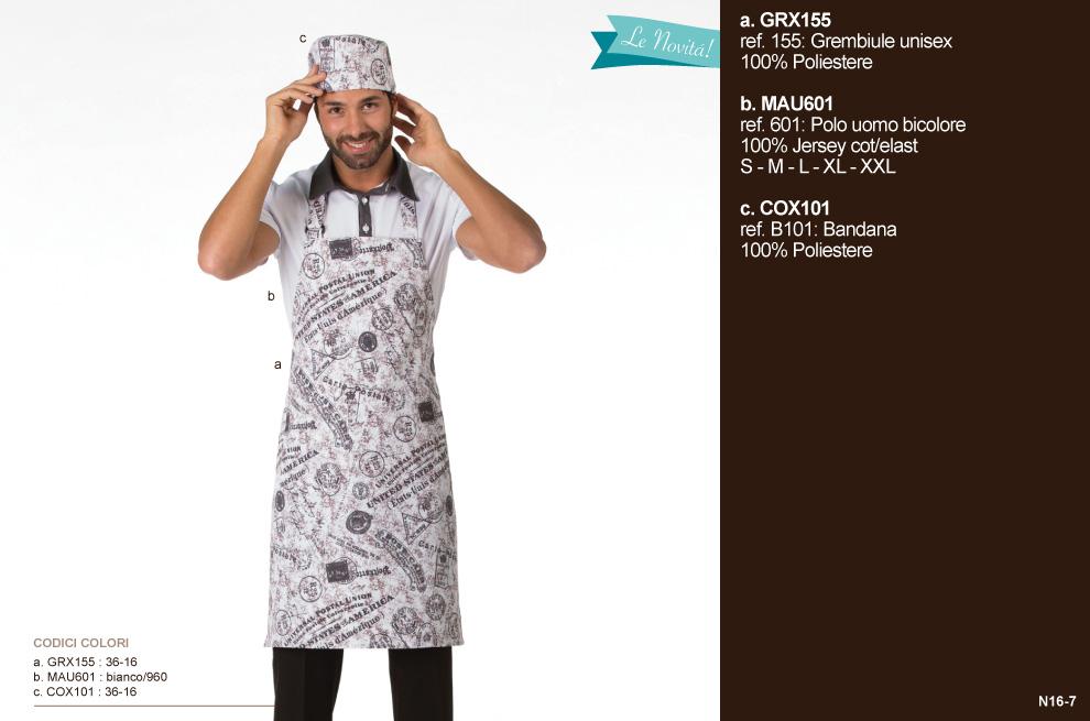 Divise bar, produzione abbigliamento professionale per Ristoranti, Forni, Panifici e Gastronomie