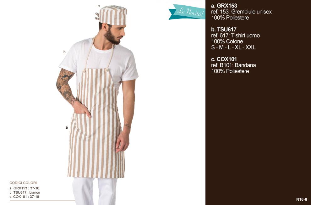 Grembiuli da lavoro, divise cucina per Gastronomie, Panifici, Gelaterie, Pasticcerie e Bar