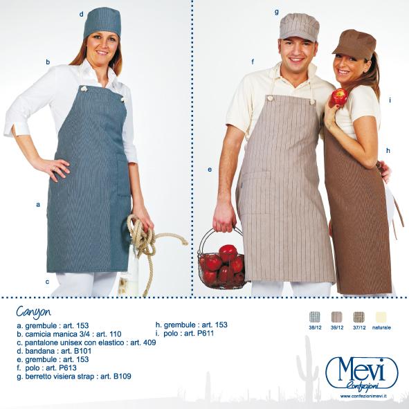 Abbigliamento da lavoro per gelateria, pasticceria, panificio, trattoria, supermercato, agriturismo