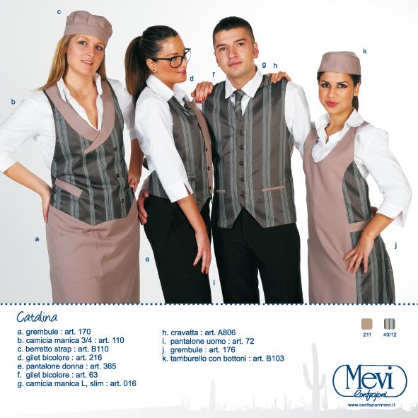 Abbigliamento professionale per discoteche, alberghi, ristoranti, cioccolaterie, pasticcerie, gelaterie