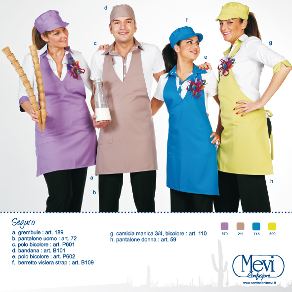 Divise professionali per bar, gelaterie, pasticcerie, alberghi, panifici