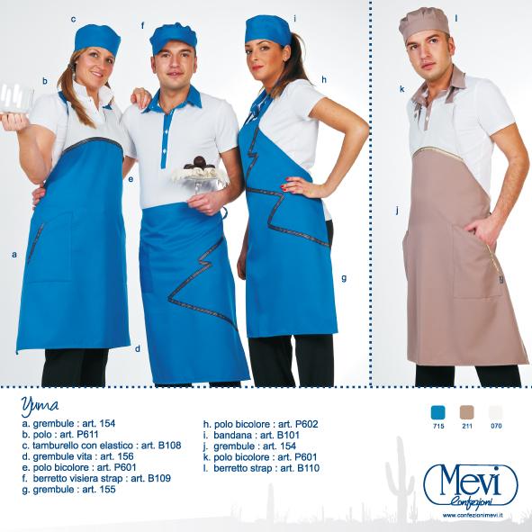 Abbigliamento professionale per alberghi, gelaterie, pasticcerie, panifici, supermercati