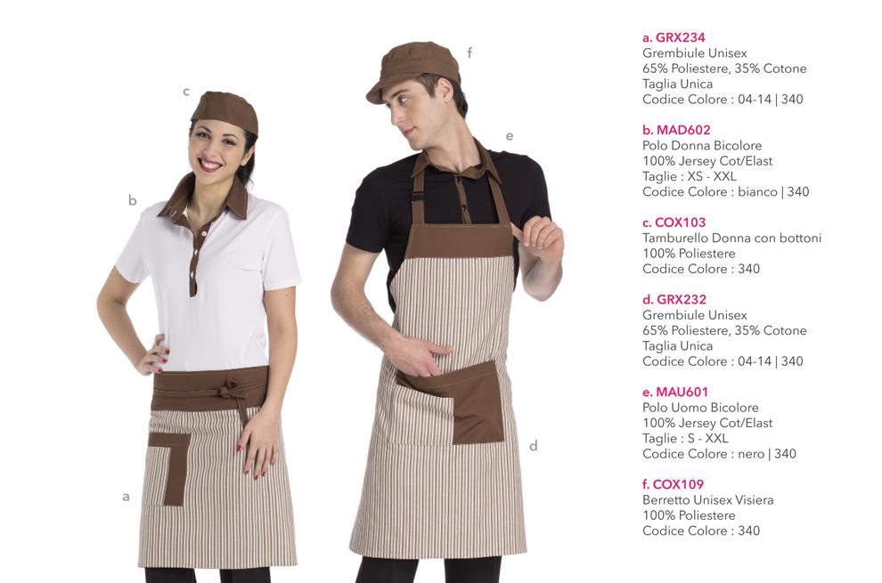 Abbigliamento professionale per Forni, Gastronomie, cioccolaterie, Panifici, Gelaterie, Bakery e Pasticcerie