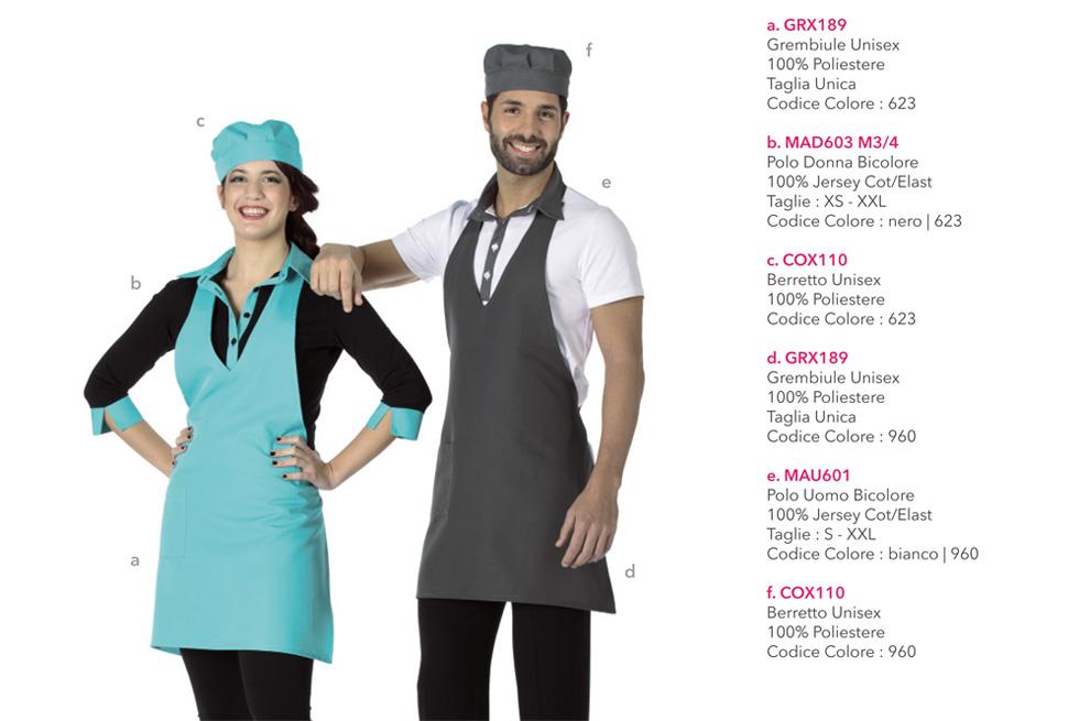 Divise professionali e Grembiuli da lavoro Mevi per la ristorazione