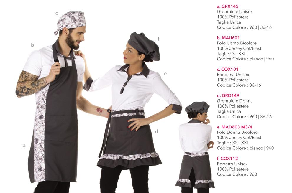 Divise e grembiuli da Lavoro per gelaterie, yogurterie, ristoranti, agriturismi, osterie, enoteche