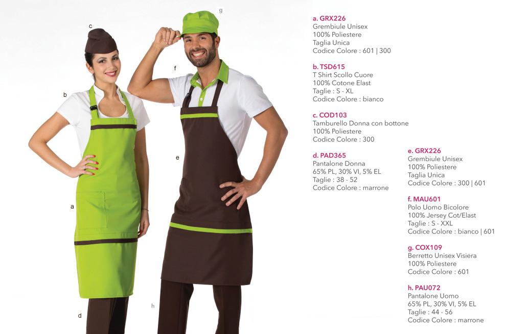 Grembiuli da Lavoro per caffetterie, hotel, pasticcerie, ristoranti, cioccolaterie